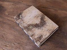 white birch bark handmade journal  wood book  by ThreeTreesBindery, $190.00