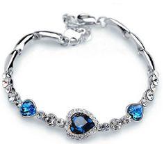 Heart Of The Ocean Rhinestone Bracelet