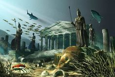 The Lost Island of Atlantis. One of the oldest mysteries in the world, the legend of Atlantis has mystified humanity since ancient times Tsunami, Modern Talking, Sunken City, Mysteries Of The World, Unexplained Mysteries, Unexplained Phenomena, Mystery Of History, History Mysteries, Murder Mysteries