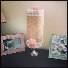 DIY headband Holder. LOVE the burlap and lace together