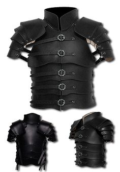 FARBE:  SCHWARZ Die Lederrüstung Kriegsfürst ist eine aus 3 - 3,5 mm starkem Rindsleder gefertigte Lamellenrüstung. Sie besticht durch ihr zurückgenommenes Design, das durch klare Linien überzeugt. Sie ist eine Rüstung, die für viele...