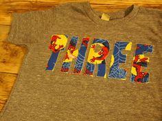 Spiderman Shirt perfect for Spiderman Birthday theme Organic Blend Tee. $26.00, via Etsy.