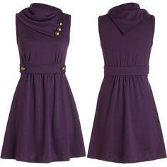 Chic Oblique Neckline A-line Dress