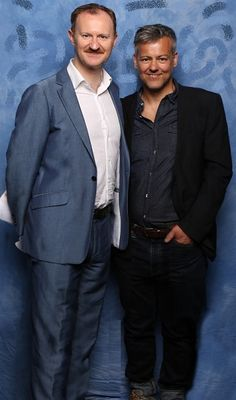 Mark Gatiss and Rupert Graves at the Sherlocked Event 2015-- Well that has to go *gestures at moustache*