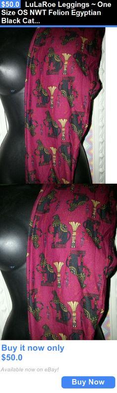 Women Leggings: Lularoe Leggings ~ One Size Os Nwt Felion Egyptian Black Cats BUY IT NOW ONLY: $50.0