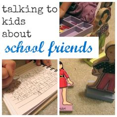Helpful tools for communicating with your child about school friends #bts2013 #weteach @Melissa Squires & Doug Toys