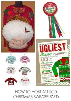 How to host an ugly Christmas sweater party in 5 easy steps! + lots of fun ideas for activities and decor!