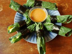 La Belle Vie Holistic Living: raw collard-wrapped springrolls