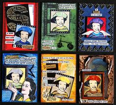 ATCs made by Marcy Smith using some of our boy stamps