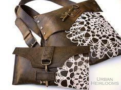 Boho Leather Messenger & Wallet by UrbanHeirlooms, via Flickr