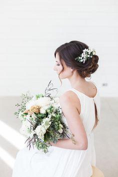 elfenbein blumen haar kamm floral halo braut haar von