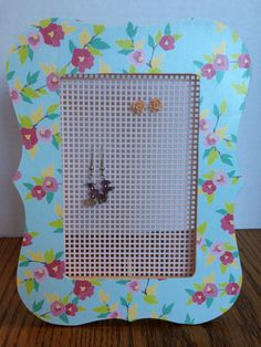 Jewerly Organizer Floral Picture Frame by AllforEllieBoutique, $10.00