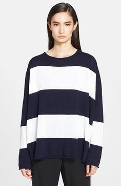 eskandar Wide Stripe Cashmere Sweater available at #Nordstrom