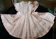 vintage girls dress needs repair free shipping by susiestratford