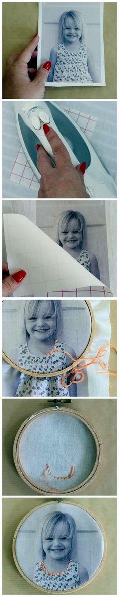 DIY retrato en tela muy original