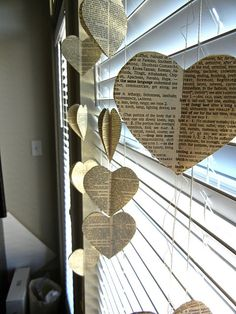 old book heart craft, not sure how I feel about hurting a book but... if its old then its recycling right?