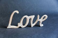 Wooden sign LOVE  Wedding decor  Home Decor  Gift by ShimmerPlace