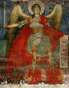 """rumelia: """" an Orthodox fresco from a church from Moscopole, today Voskopojë, Albania. Byzantine Art, Byzantine Icons, Religious Images, Religious Art, Fresco, Cemetery Angels, Bio Art, Jesus Christ Images, Angel Sculpture"""