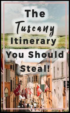 The Tuscany Itinerary You Should Steal. Roadtrip through Tuscany and spend one week in this incredible region of Italy. Find picturesque towns, villages, rolling green hills, and delicious food and wine. Cinque Terre, Places To Travel, Places To See, Travel Destinations, Travel Things, Italy Rail, Positano, Italy Travel Tips, Travel Guide