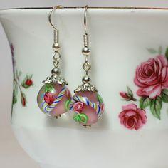 DIY Glass Bead Earrings
