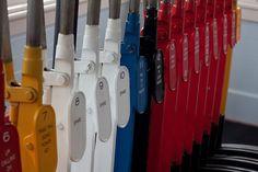 Colour inspiration from Glenbrook Vintage Railway points levers. Colour Inspiration, Train Tracks, Trains, Vintage, Art, Kunst, Primitive, Railroad Tracks, Art Education