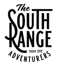 Typography / The south Range by Simon Walker