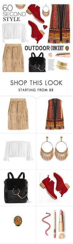 """""""60 second style: Outdoor Concerts Done In Boho Style"""" by the-amj ❤ liked on Polyvore featuring Tamara Mellon, Etro, Sans Souci, Chloé and Jeffrey Campbell"""