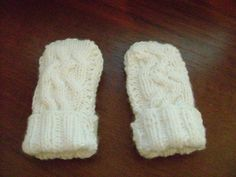 Варежки для новорожденного без пальчика спицами