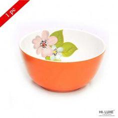 Hi Luxe Double Clr Serving Bowl  Orange