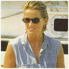 "PRINCESS DIANA: ""Last holiday: Relaxed, carefree and tanned Princess Diana rests on the Jonikal yacht during her summer holiday with the boys and Al Fayed family in the French reviera on July 1997 ♧"
