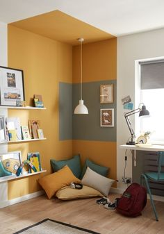 Home Room Design, Home Interior Design, Interior Decorating, House Design, Home Office Paint Design, Color Interior, Playroom Design, Kids Room Design, Kitchen Interior