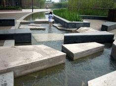 Hangzhou New CBD Waterfront Park | Hangzhou China | KI Studio #landscapearchitecturewater