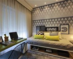 Video game room ideas game room rec room & home theater спал Decor, Bedroom Decor, Game Room, Bedroom, Interior Design, Home Decor, Teenage Room, House Interior, Room Decor