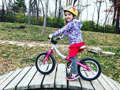 One of the advantages is that it breaks the skill of cycling into its component parts segregating the balancing and pedalling parts. As it helps intuitive learning, the is one of the best gifts for the toddlers. Bike Focus, Wood Bike, Balance Bike, Bike Reviews, Kids Bike, Two Year Olds, Tricycle, Best Gifts, Cool Outfits