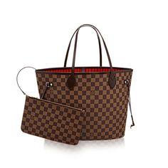 32a0396b8b08 Neverfull MM - Damier Ebene Canvas - Handbags