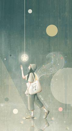Anime Scenery Wallpaper, Cute Wallpaper Backgrounds, Wallpaper Iphone Cute, Cute Cartoon Wallpapers, Galaxy Wallpaper, Cute Love Wallpapers, Aesthetic Anime, Aesthetic Art, Animated Love Images