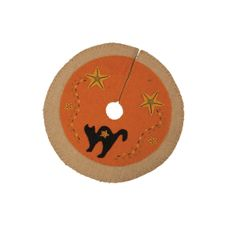 """Hand-stitched Fabric Mat or Runner made of a combination of felt and wool blend materials - 12"""" round"""