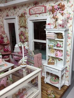 Inside shabby chic shop made by Patty Johnson of East Moline IL.