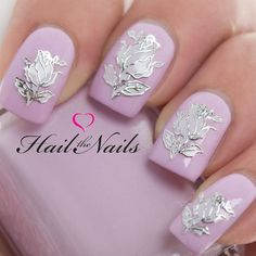 Nail Art Wraps Self Adhesive Stickers Flowers Decals Y610 Salon Quality Wedding on Etsy, $3.88