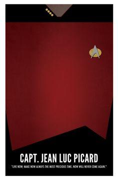 #STARFLEET INTELLIGENCE   Star Trek TNG, Jean Luc Picard - Poster. €13.50, via Etsy.