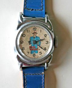 Vintage 1948 DICK TRACY child's wristwatch.