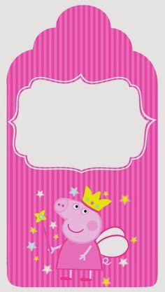 Etiquetas para Candy Bar de Peppa Pig Hada para Imprimir Gratis. Pig Birthday Cakes, 2nd Birthday Parties, Birthday Party Decorations, Peppa Pig Imagenes, Peppa Pig Printables, Peppa E George, Papa Pig, Aniversario Peppa Pig, Pig Crafts