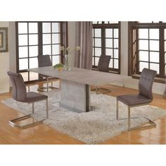 Charmant Kalinda 5 PC Dining Set In Grey By Chintaly Imports