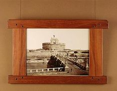 Greene and Greene picture frame, from Gamble house
