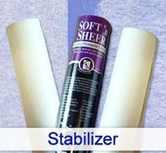 Which Stabilizer to use-What's the difference between tear-away and cutaway? Which water-soluble works best for freestanding lace? Handy-dandy articles covering those topics are found here.