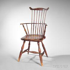 Painted Windsor Fan-back Armchair