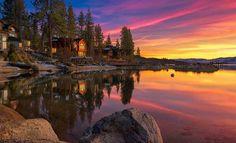Sunset, Lake Tahoe, California photo via kathy