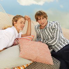 Stripes, in brand new combinations: We're rediscovering our beloved stripes, thanks to new color combos and audacious print mixing. Happy Together, Color Combos, Thankful, Stripes, Brand New, Couple Photos, Fashion, Fashion Styles, Couple Shots