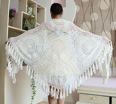 crochet shawl et item 1036 http://ift.tt/1N2OWXE mooncakeshop January 11 2016 at 09:29PM crochet Crochet jacket crochet dress crochet shawl Bridal Shawl wedding shawl boho chic shawl wrap crochet afghan shawl