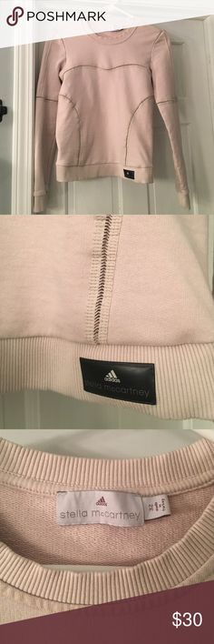Stella McCartney adidas cream sweatshirt Size 32 (fits like XS) adidas Stella Mccartny cream sweatshirt. Super cute and flattering with detail. Adidas by Stella McCartney Tops Sweatshirts & Hoodies